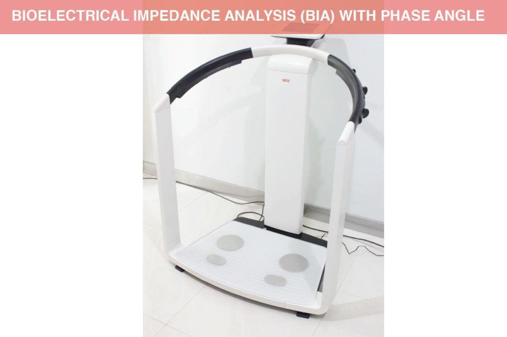 Bioelectrical Impedance Analysis (BIA) with phase angle